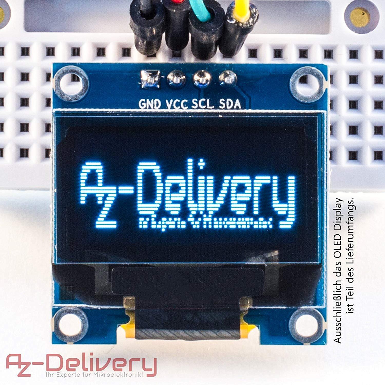 AZDelivery 3 x Pantalla OLED Display I2C 128 x 64 píxeles 0.96 Pulgadas para Arduino y Raspberry Pi con ebook Gratis!: Amazon.es: Electrónica