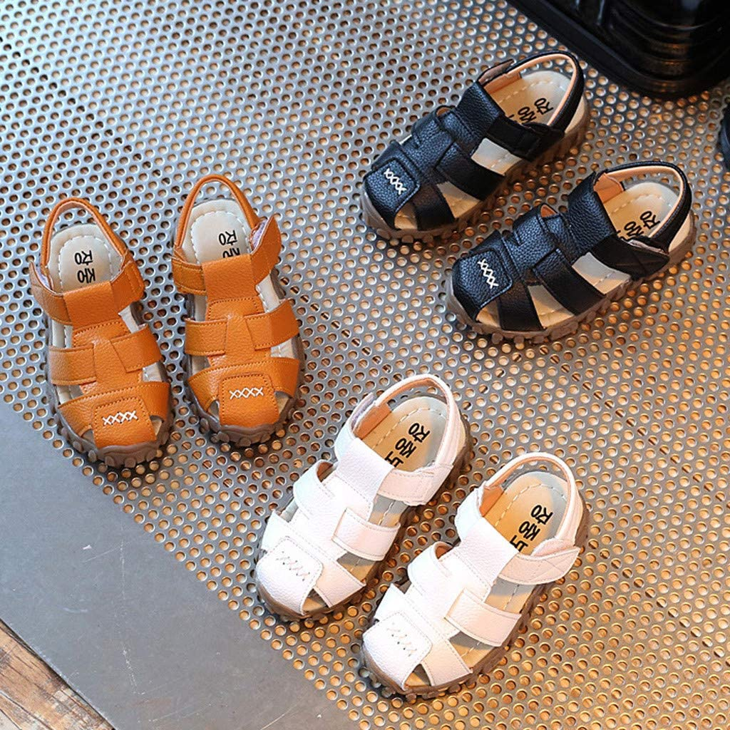 Baby Toddler Boys Summer Casual Sandals Shoes 1-3 Years Old Kids Fashion Close Toe Antislip Walking Shoes