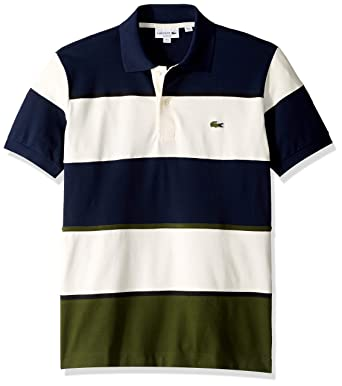 adc990382 Lacoste Men s S S Technical Pique Colorblock Polo at Amazon Men s Clothing  store