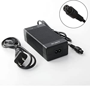 EVAPLUS Battery Charger 42V 2A Power Adapter with 3-Prong Connector Charger Adapter-Black
