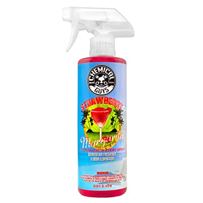 Chemical Guys AIR_223_16 Strawberry Margarita Premium Air Freshener and Odor Eliminator (16 oz): Automotive
