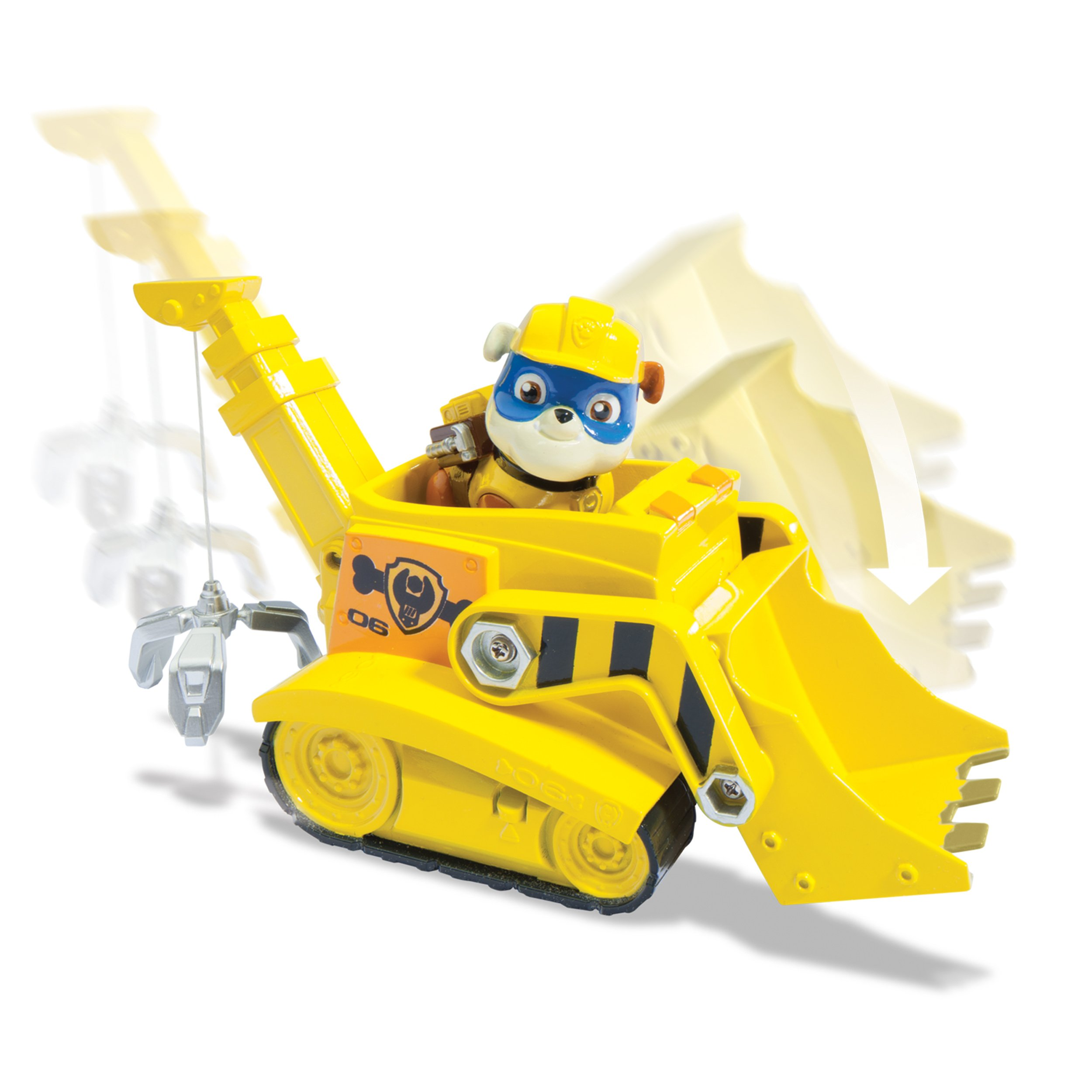 Paw Patrol Super Pup Rubble's Crane, Vehicle Figure by Paw Patrol (Image #4)