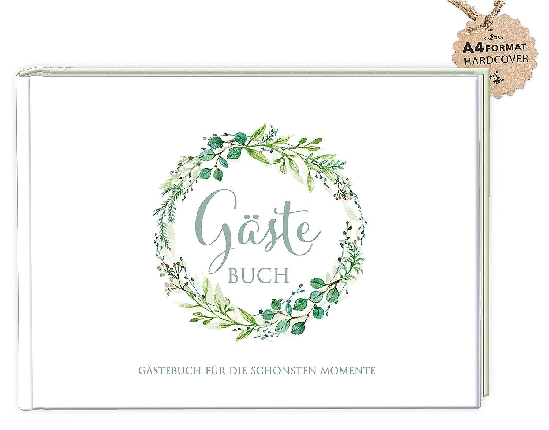 Anspruchsvoll Gästebuch Hochzeit Seite Gestalten Sammlung Von Din A4 GÄstebuch (hardcover) Zur Hochzeit, Taufe,