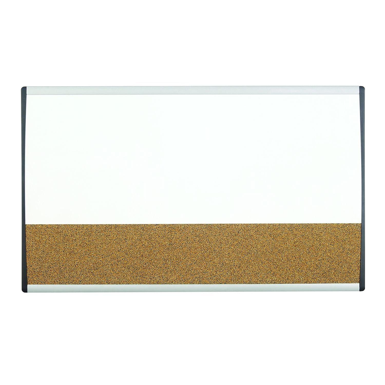 Quartet Arc Cubicle Combination Board, 30 x 18, Whiteboard/Cork Surface, Aluminum Frame (ARCCB3018) 30 x 18 ACCO Brands
