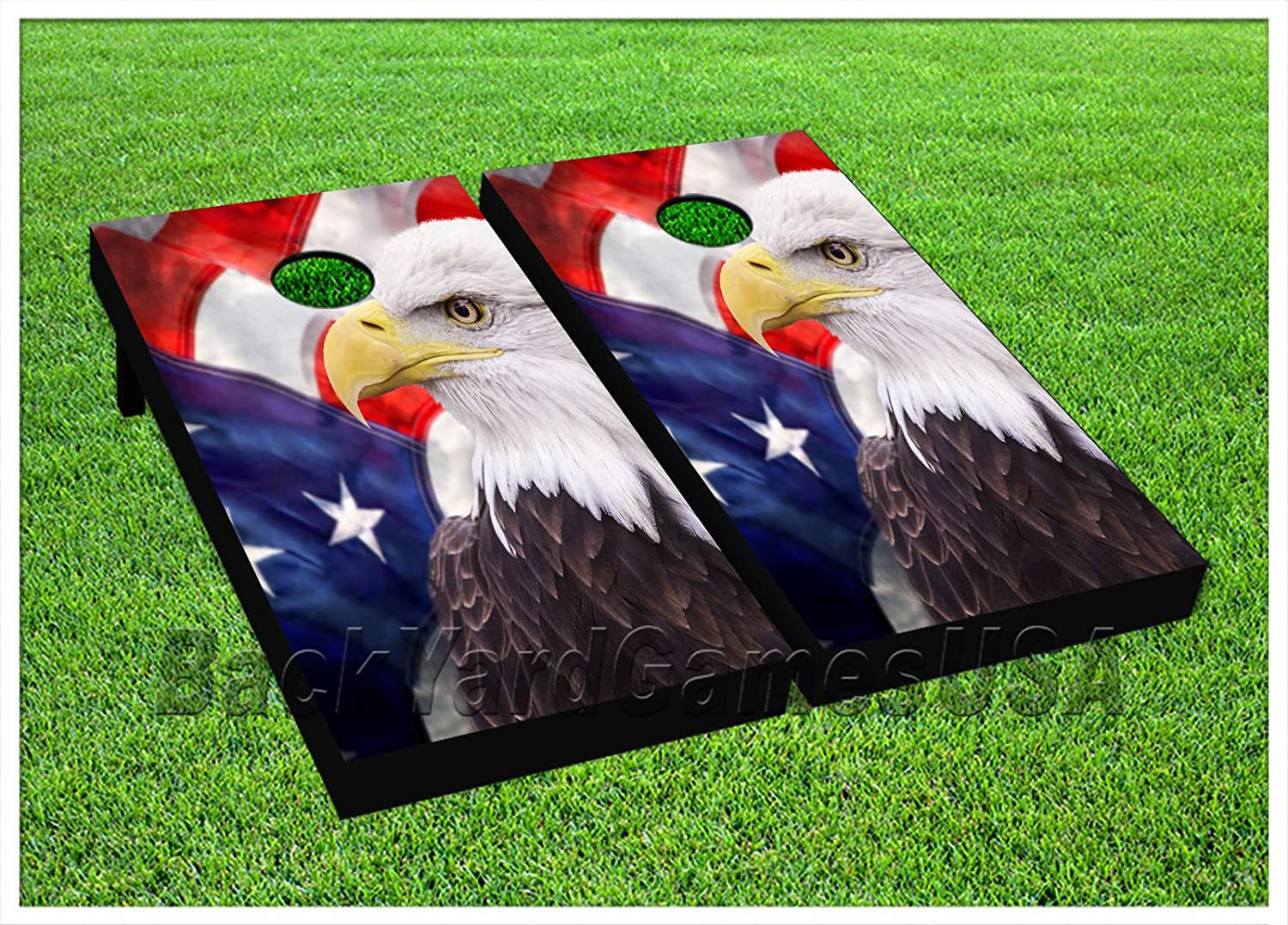 American Flag Cornhole Beanbag Toss Game WバッグゲームボードPatriotic Eagle 776   B075DXH8GN