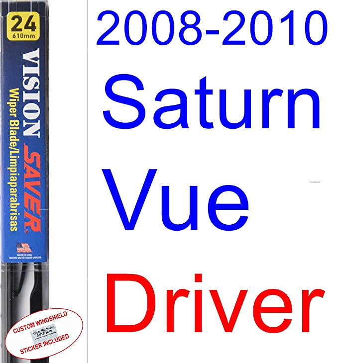 Amazon.com: 2008-2010 Saturn Vue Replacement Wiper Blade Set/Kit (Set of 3 Blades) (Saver Automotive Products-Vision Saver) (2009): Automotive