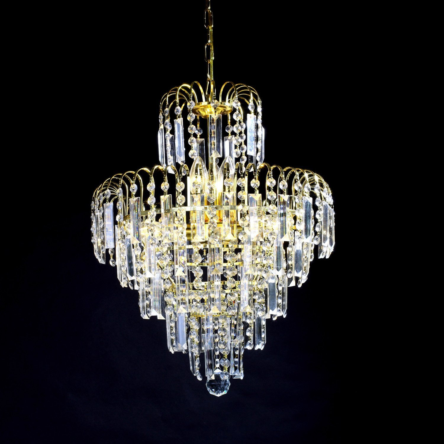 Luxury 6 Lights Chandelier In Crown Shape Crystal Home Ceiling Light Fixture Pendant Chandeliers Lighting For Dining Room Bedroom Living