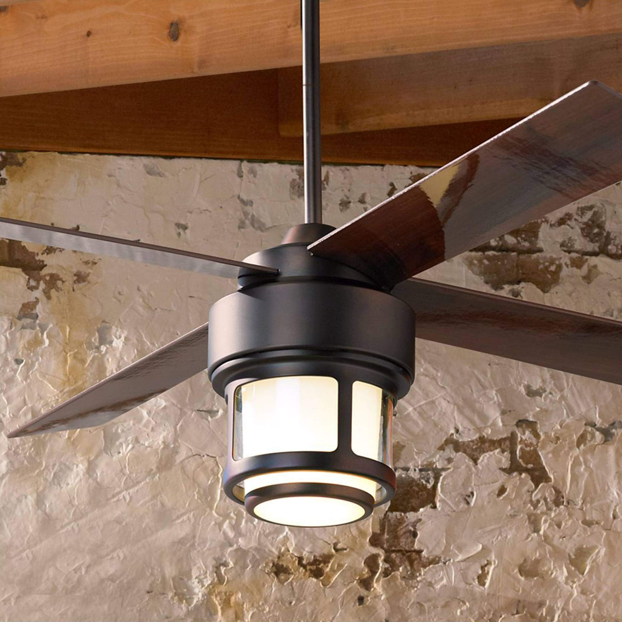 52'' Casa Vieja Tercel Bronze LED Outdoor Ceiling Fan - Casa Vieja