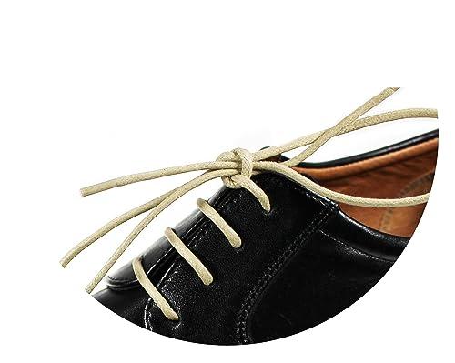 Laces- Gewachste, Bunte, farbige, runde Schnürsenkel für Business-Schuhe 3ab616b6b4