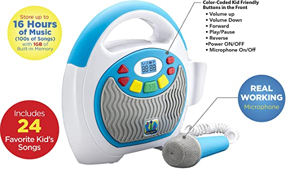 eKids Mother Goose Club Bluetooth Sing Along Portable MP3 Player