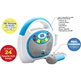 eKids Mother Goose Club Bluetooth Sing Along Portable MP3 Player Real Mic 24 Songs Storesup to 16 Hours of Music 1 GB…
