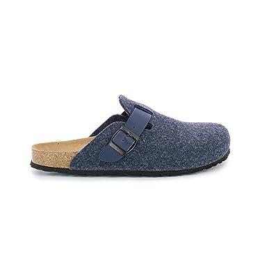Bayton Maik Mens Slippers, Navy, 10 | Slippers