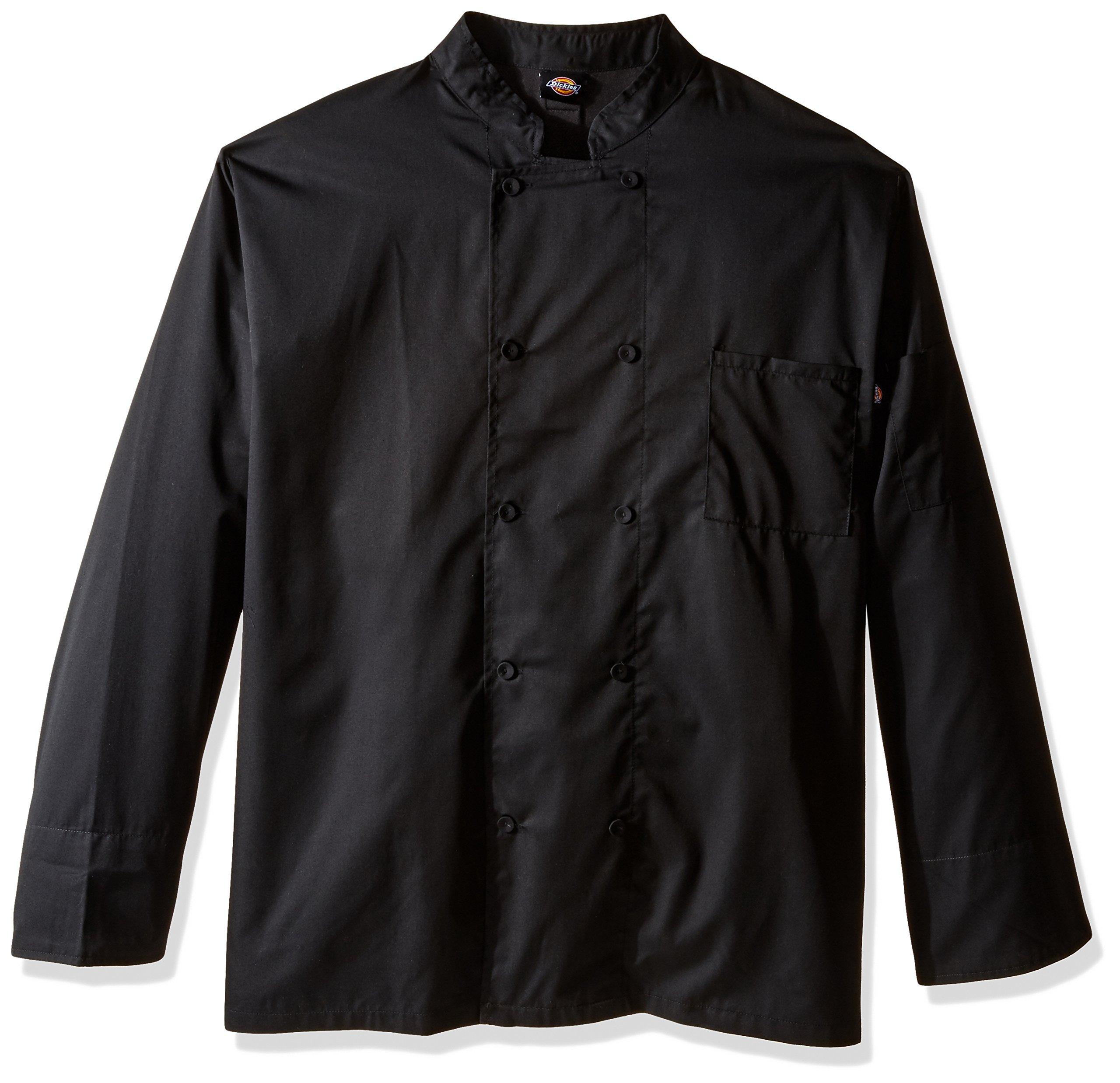 Dickies Chef Cool Breeze Long-Sleeve Coat, Black, 4X-Large