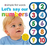 Simple First Words Let's Say Our Numbers