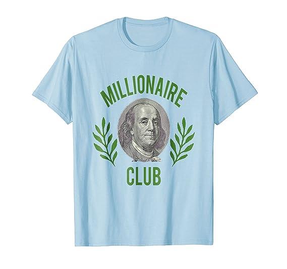 Mens Millionaire Club T Shirt Benjamin Franklin 100 Dollar Bill 2xl Baby Blue