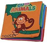 SODIAL (R) tessuto morbido Lo sviluppo del bambino Bambini Intelligenza Squeaky Immagine Cloth Libro - Animal Kingdom