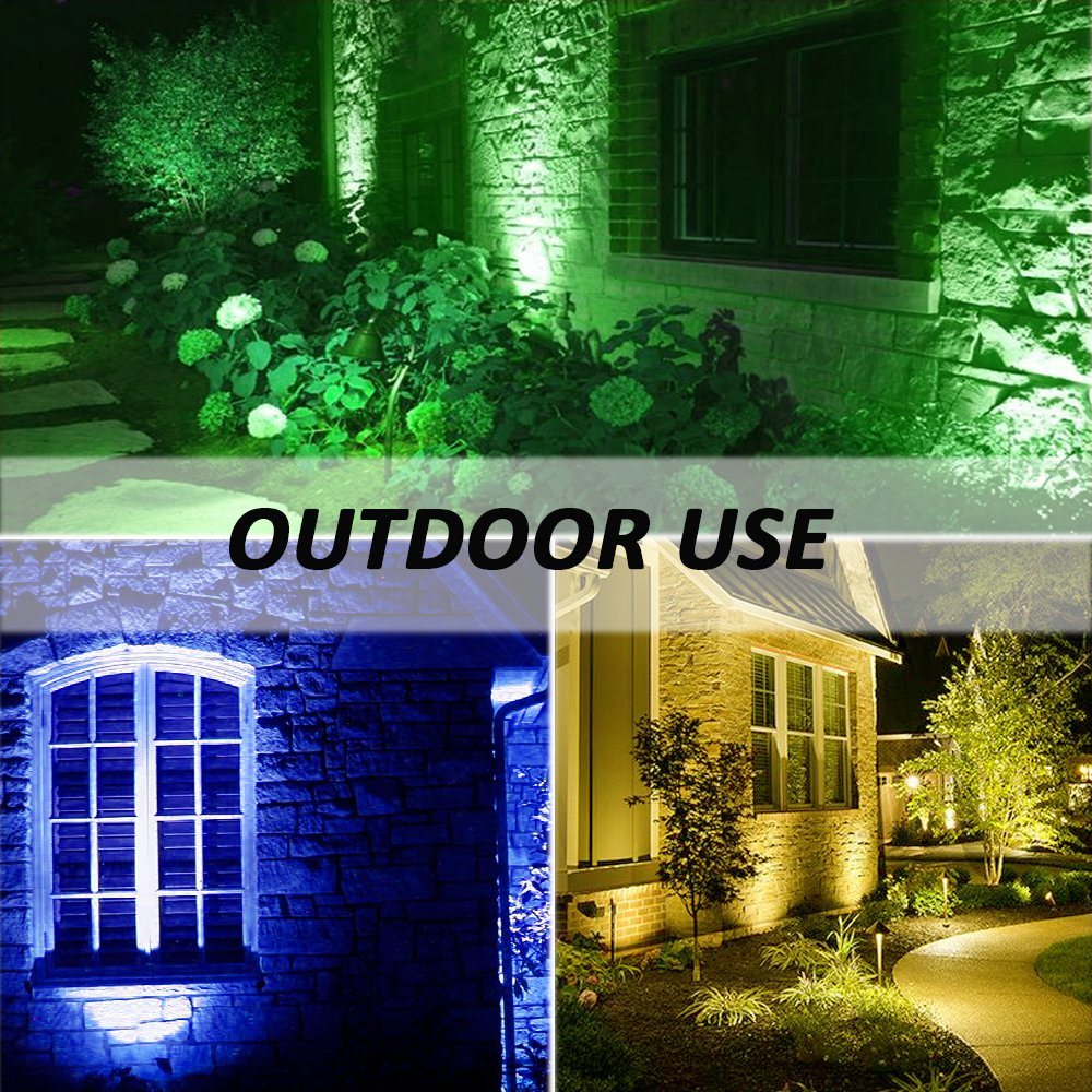 Outdoor Flood Lights Wont Turn Off: 2 Pack 15W RGB LED Flood Lights IP66 Outdoor Color