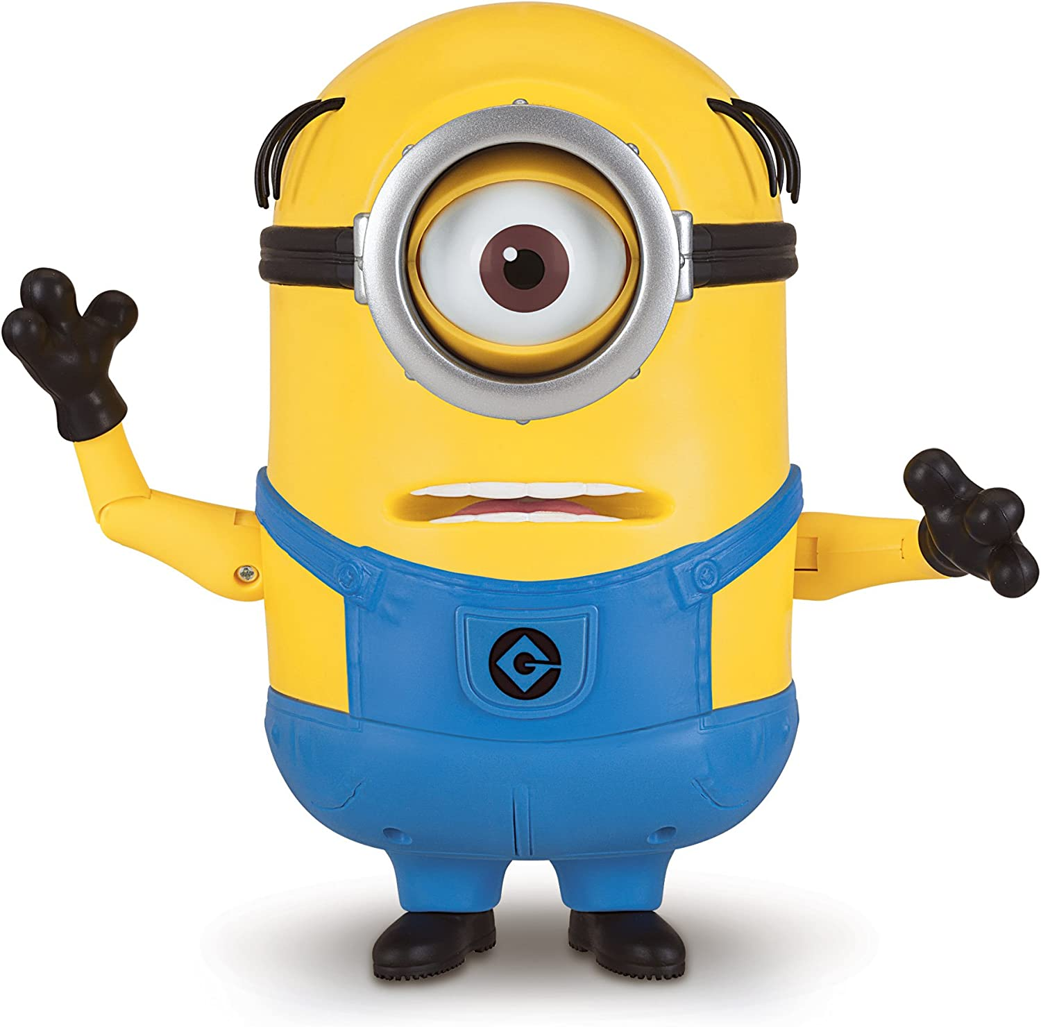 """Thinkway Toys Despicable Me Minion Bob 4/"""" Toy Action Figure Close Moving Eye"""