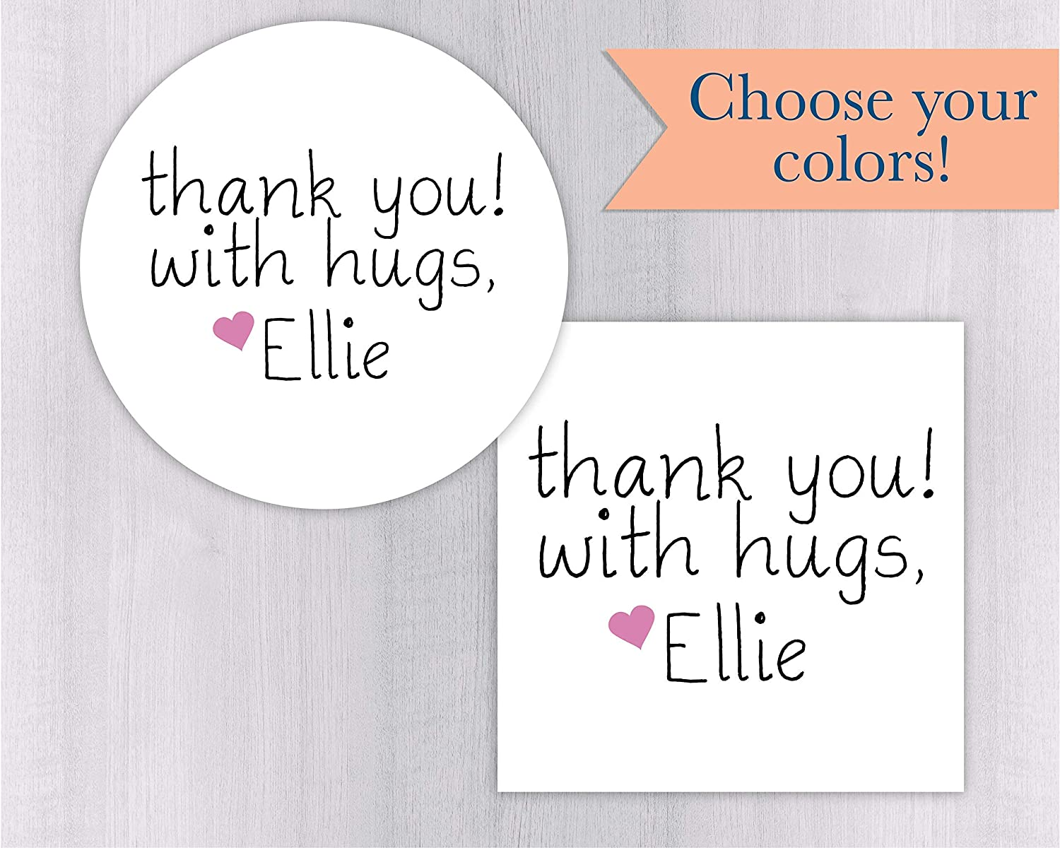 Amazon com thank you with hugs thank you hugs sticker favors thank you stickers printable stickers 099 wh handmade