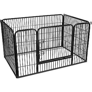 FEANDREA Valla para Perros Valla para Mascotas Plegable, Parque para Mascotas, Jaula para Perros