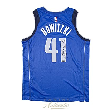 5d8b9a9cc Dirk Nowitzki Autographed Jersey - Nike Blue Replica ~Open Edition Item~ -  Panini Certified