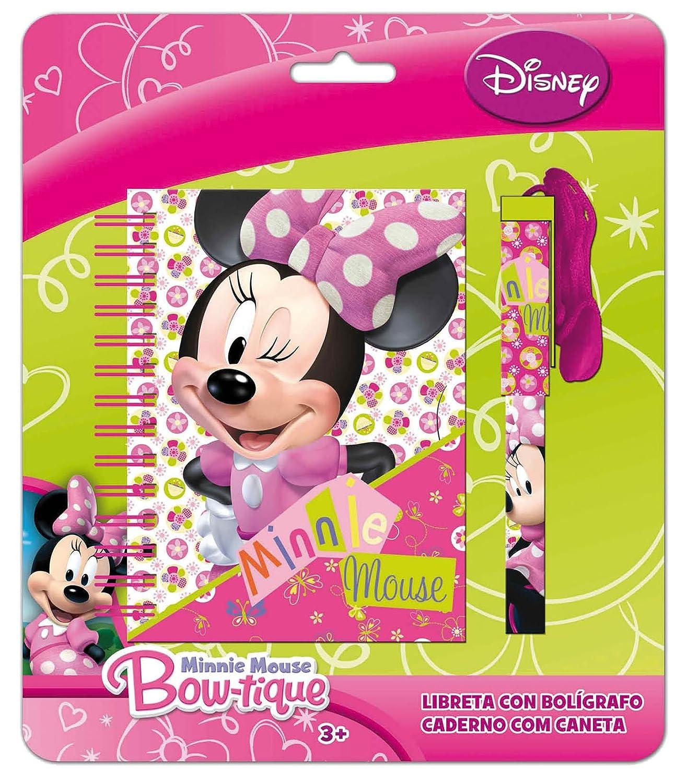 Minnie Mouse Fantasy DS3953//AS6660 Blister con cuaderno y boli colgante