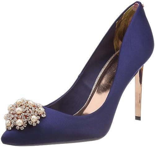 196473fabf Ted Baker Women's Peetch 2 Closed Toe Heels, Blue (Navy), 5 UK 38 EU ...
