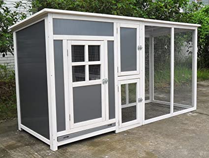 Superieur ChickenCoopOutlet 78u0026quot; Light Weight Wood Frame Chicken Coop With  Plastic Inserts Backyard Hen House 2