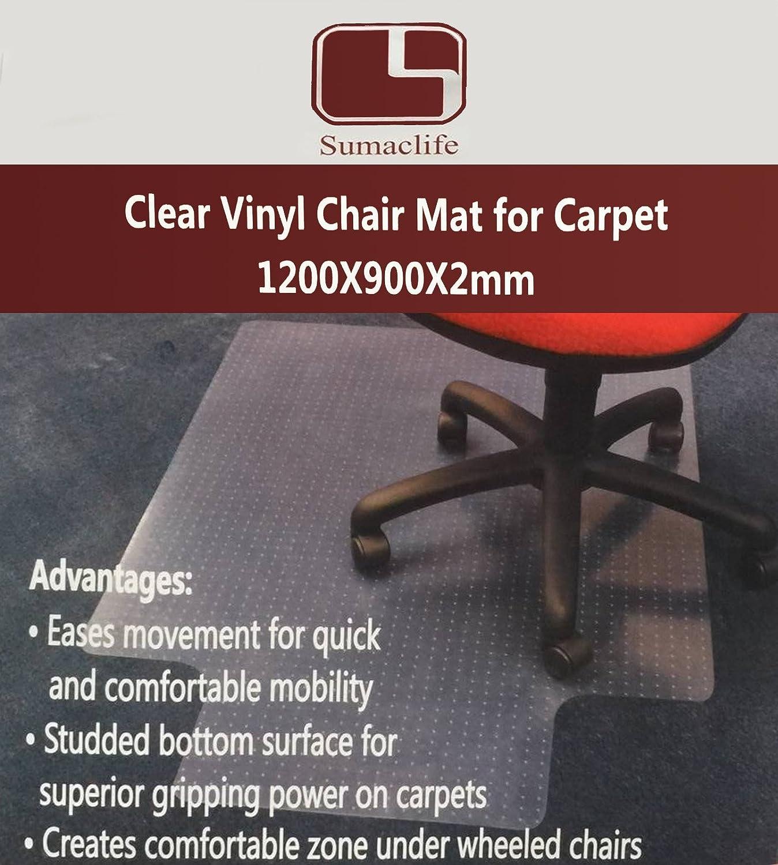amazon com sumaclife office home clear vinyl carpet chair mat 36