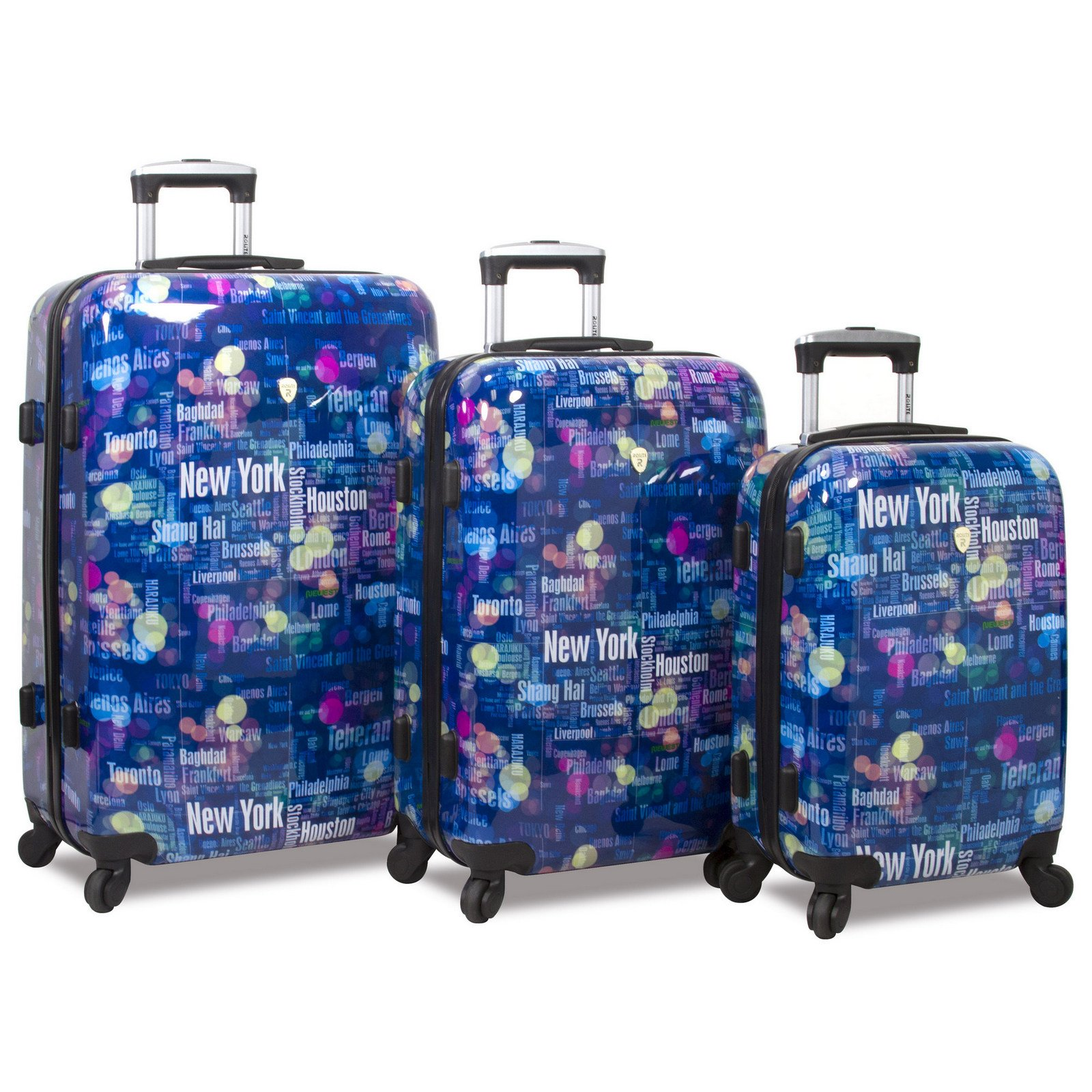 Rolite Lumos Night Lights 3-Piece Lightweight Hardside Spinner Luggage Set, Destination by Rolite