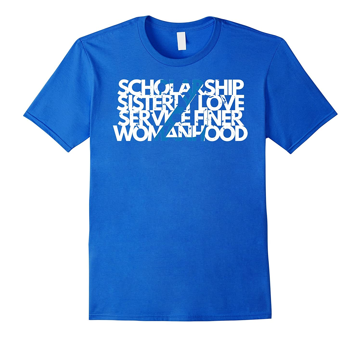 Zeta Z Phi 1920 - Principles Shirt Scholarship Sisterly Love-TH