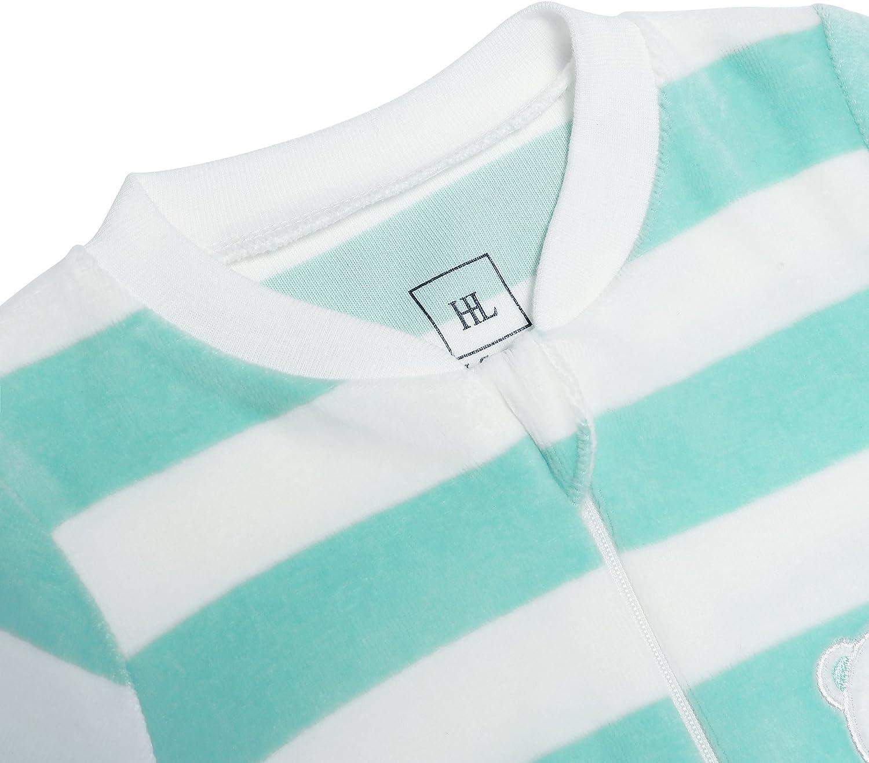 HONGLIN Infant Baby Striped Coralline Romper New White Green Footie Sleepwear Baby Boys Long Sleeve Jumpsuit
