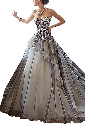 GEORGE BRIDE Palace retro schwarzer Gaze handgemachte Brautkleider ...