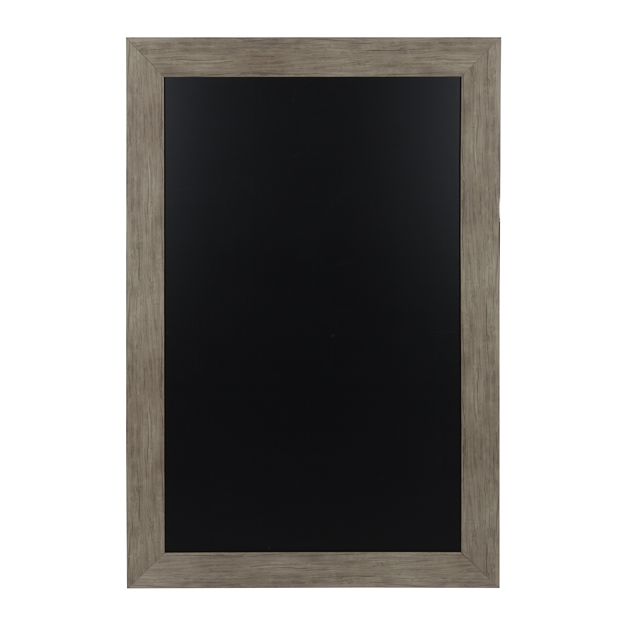 DesignOvation Beatrice Framed Magnetic Chalkboard, 29.5x45.5, Rustic Brown by DesignOvation