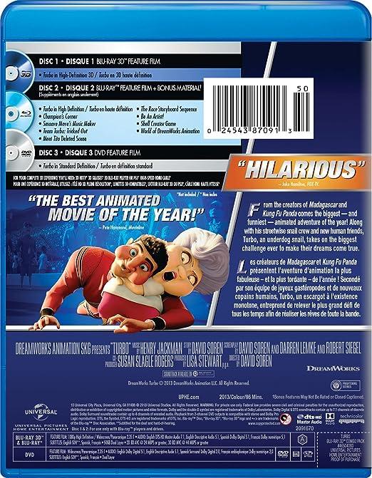 Amazon.com: Turbo [Blu-ray]: Ryan Reynolds, Paul Giamatti, Michael Peña, David Soren: Movies & TV