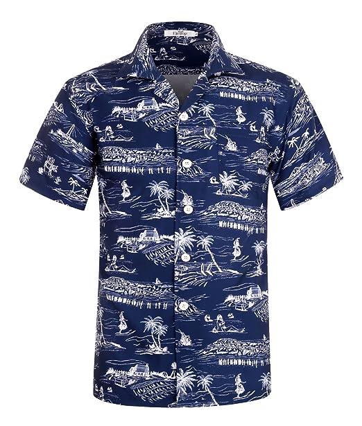 Designer Beach Casual Wear Short Sleeve Button Down Hawaiian Cotton Men Shirt