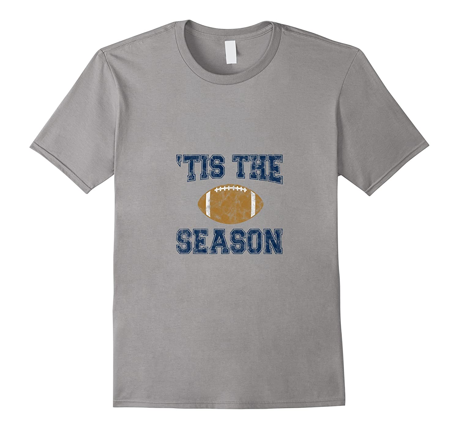'Tis The Season (Blue) - Football T-Shirt-Art