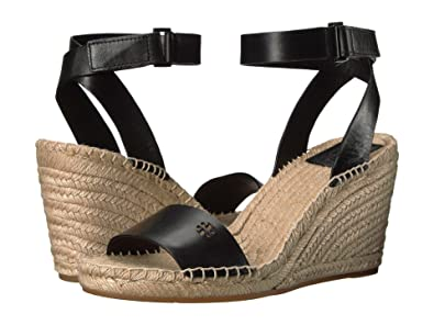 70923ebccb2c Tory Burch Bima Espadrille Wedges Sandals (10) Black