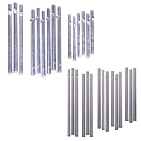 COSMOS 30 Pcs Wind Chime Tubes for Home Garden Outdoor Hanging Decorations, Silver Tone Color, Solid and Empty Tubes