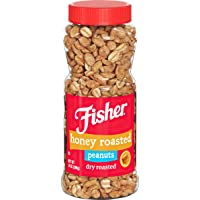 Fisher Snack Honey Roasted Dry Roasted Peanuts, 14 Oz