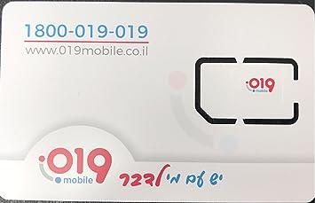 019 Mobile - Israel sim - Free calls to USA / Canada / UK