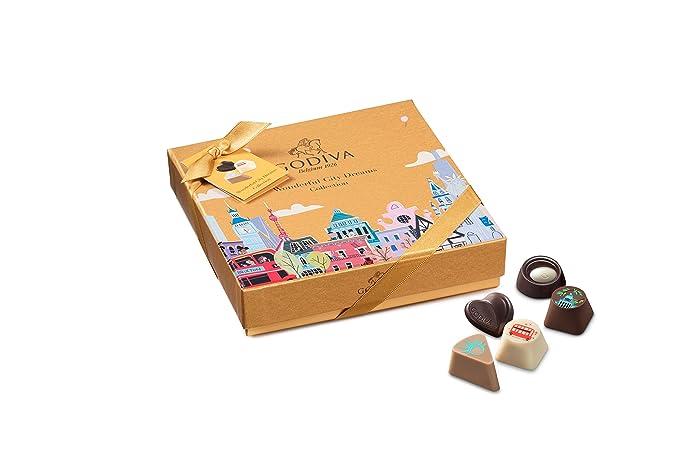 Godiva, Wonderful City Dreams bombones surtidos caja regalo 9 piezas ...