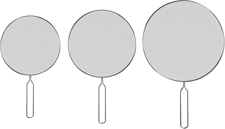 medium and large small Classic Cuisine 82-KIT1046 Splatter Screen Guards Stainless Steel Renewed