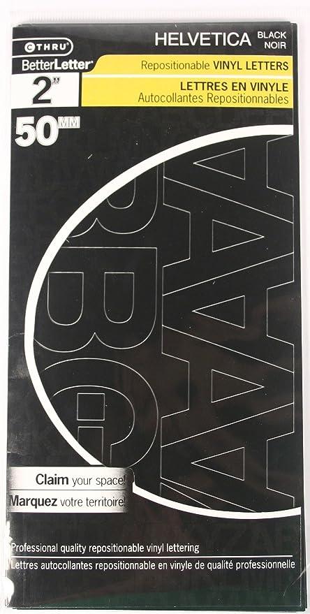 Westcott LetterCraft Vinyl Letters, Black, Helvetica Font, 2-Inch  Characters (PH2-CN BLK/15852)