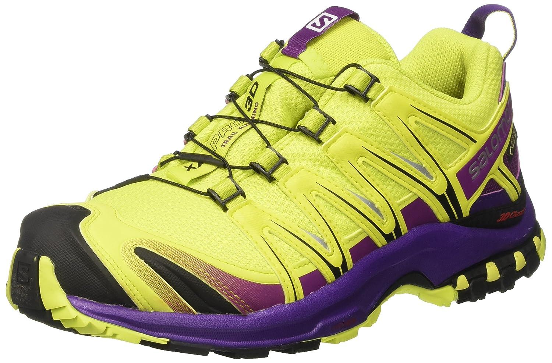[サロモン] トレッキングシューズ XA PRO 3D ゴアテックス レディース 防水 登山靴 B01MQ0MM03 24.5 cm ライムパンチ/グレープジュース/アサイー