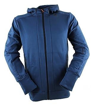 Adidas Hoodie - Chaqueta con Capucha Polar Hombre Azul: Amazon.es: Deportes y aire libre