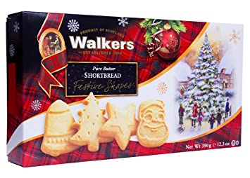 Walkers Shortbread Festive Shapes 12 3 Ounce Box Traditional Pure Butter Shortbread