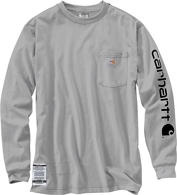 Carhartt Camiseta de manga larga de algodón resistente a la llama para hombre