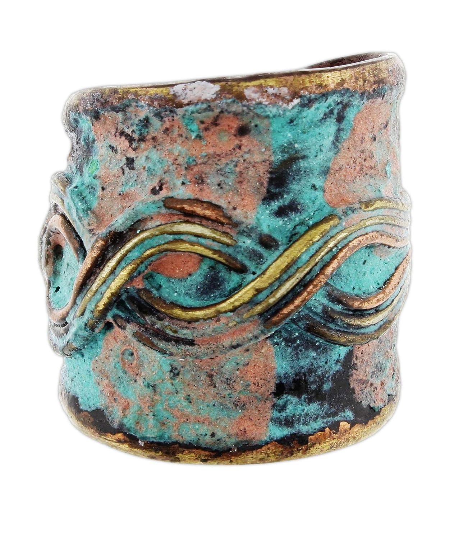 Anju Patina Cuff Ring Welded Mixed Metal Design