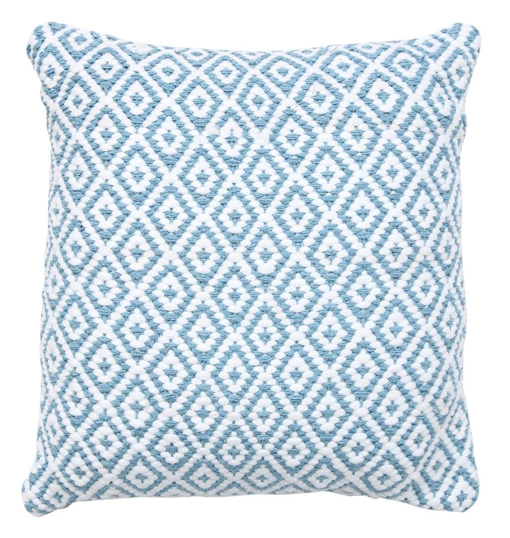 WARISI - Cushion Collection - Argyll Pillows With Insert/Pillow (Light Blue, 18''x18'')